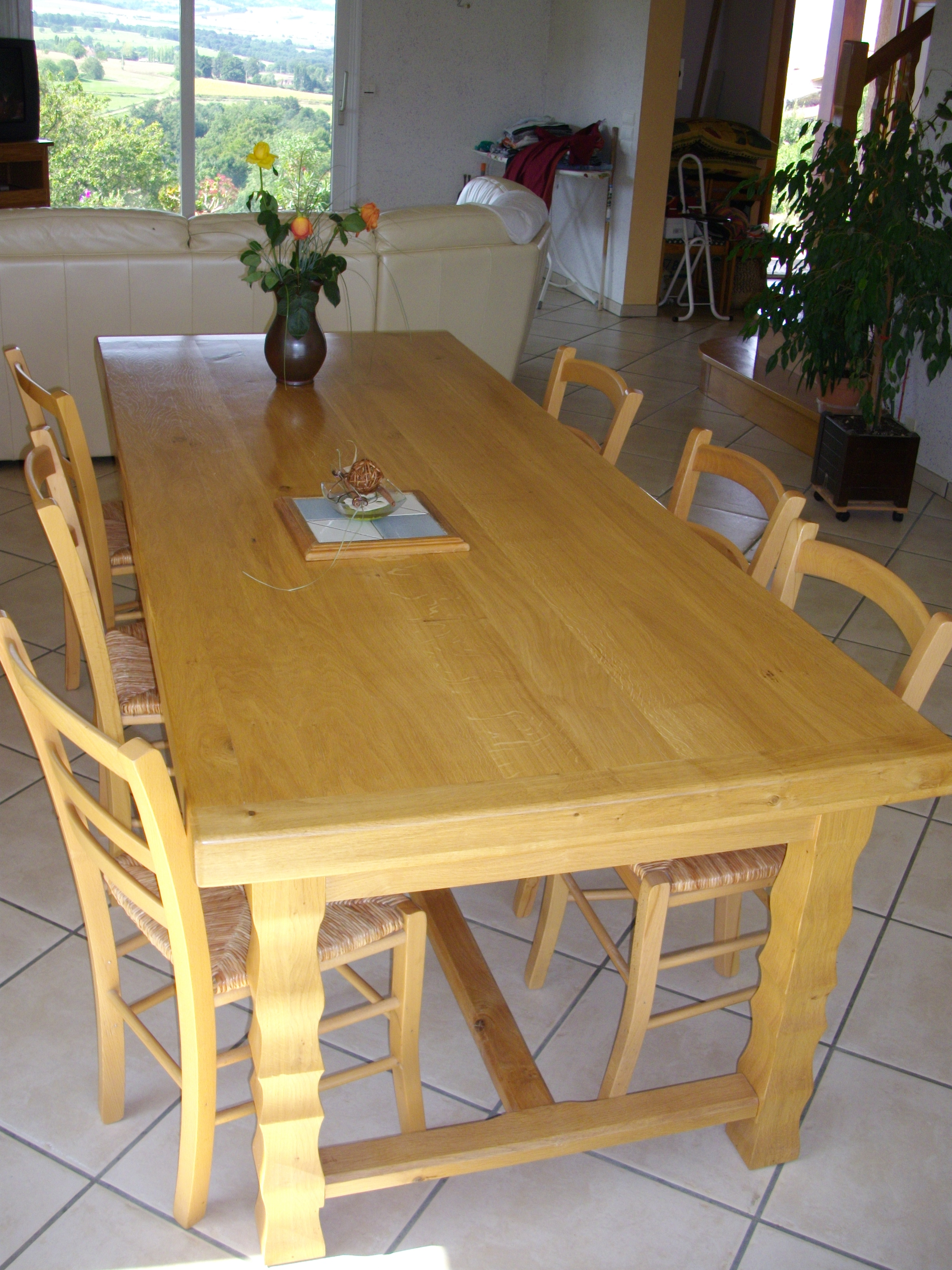 Tables esprit bois for Table familiale